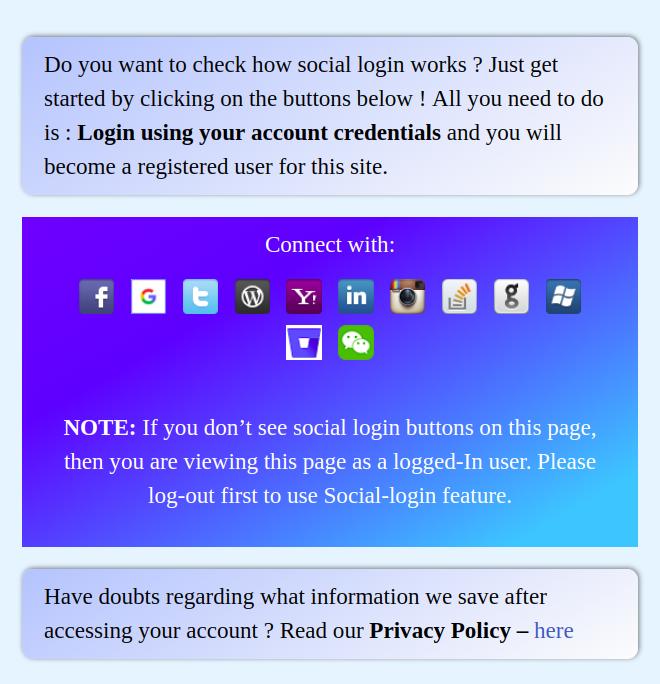 demo image social login